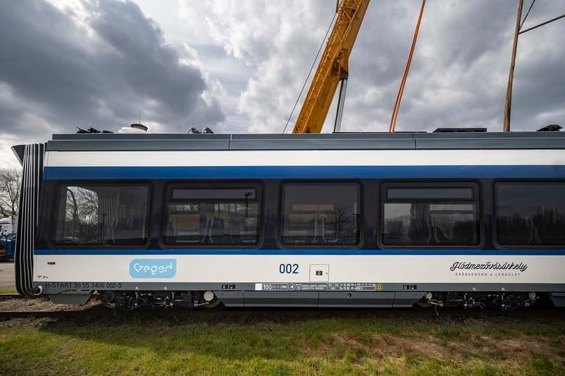 Szentesen a második tram-train