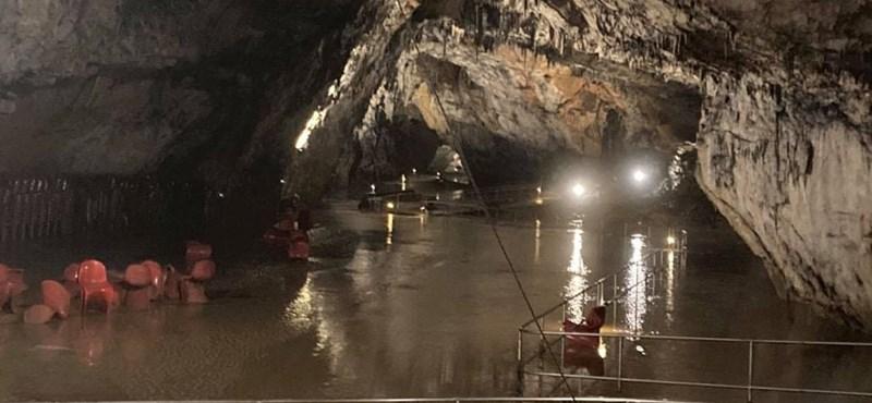 Villámárvíz öntötte el az aggteleki barlangot