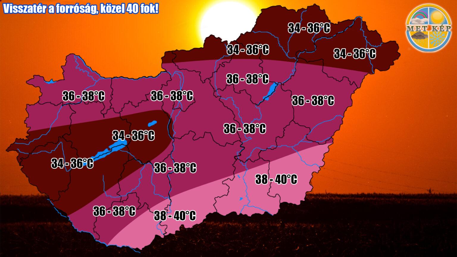 Érkezik a 'kibírhatatlan' forróság: 40 fok sem kizárt!
