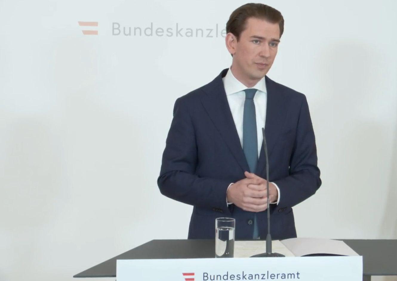 Bejelentette lemondását Sebastian Kurz osztrák kancellár
